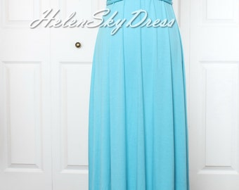 Blue Convertible Infinity Full length Bridesmaids Dress