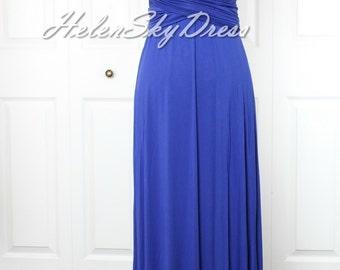 Royal blue bridesmaid dress one shoulder Bridesmaid Dresses Convertible Infinity Wrap dress