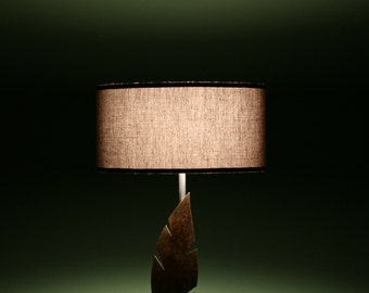 Table lamp, desk lamp, lampada da tavolo, leaf, rusty, made in Italy