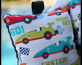 Shopping Cart Cover for Boys - Boutique Shopping Cart Cover- Faster racecars
