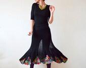 Summer Black Crochet Women's Skirt