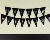 Reusable Chalkboard Pennants // Custom Party Pennants // Fall // Christmas // Birthday // Wedding // Flag // Bunting // Baby Shower