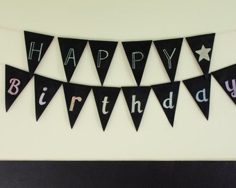 Reusable Chalkboard Pennants // Custom Party Pennants // Fall // Christmas // Birthday // Wedding // Flag // Bunting // Baby Shower