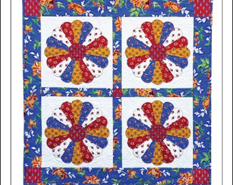 Classic Dresden Plates Wall Quilt Pattern