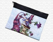 Staring Contest Amy Brown zippered pouch wristlet, travel bag,