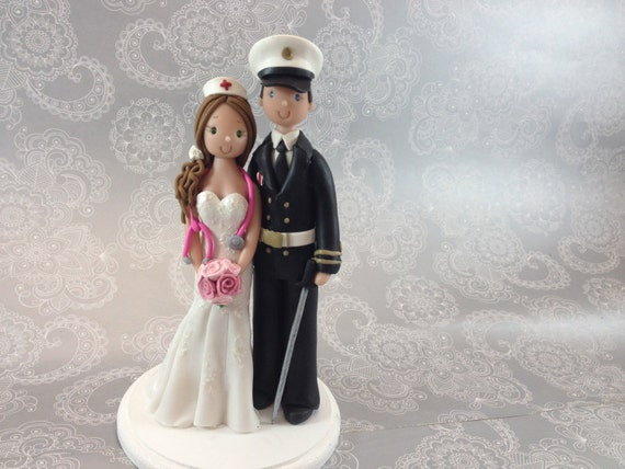 nurse wedding cake toppers amp soldier custom made wedding cake topper 17951