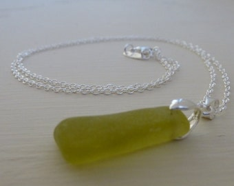 Sea Glass Jewelry Lime Green