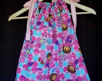 Dora the Explorer Pillow Case Dress, Sun Dress, Jumper, Beach Cover-up