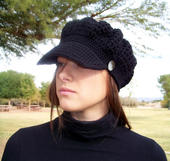 Crochet PATTERN, Crochet Newsboy Hat Pattern, Crochet Womens Hat Pattern, Crochet Hat Pattern, Crochet Newsboy Cap Pattern, Easy Crochet