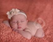 Ruffle Baby Girl Flower Headbands, Baby Bows, Newborn, Toddler, Photography Prop