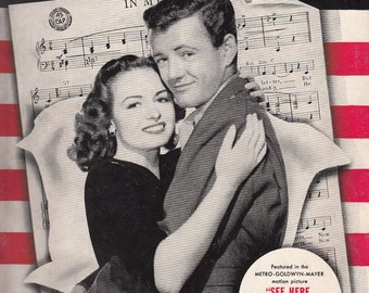 In My Arms 1943 Sheet Music Donna Reed Robert Walker See Here Private Hargrove