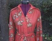 RESERVED for JoojooKay Saks Fifth Avenue Dress 1970s Saks Fifth Avenue Dress 70s Saks Fifth Avenue Dress Geisha Print 1970s Shirt Dress