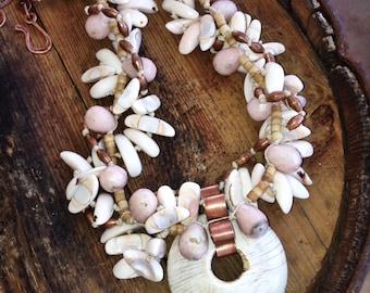 Necklace - Statement - Earthy - Beach - Opal - Earthy Bohemian Jewelry by YaYJewelry