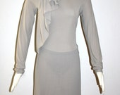 DONNA KARAN Vintage Dress Black Label BodyCon Wiggle Scarf Dress - AUTHENTIC -