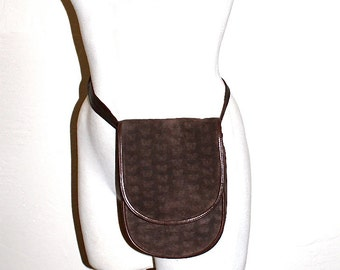 BOTTEGA VENETA Vintage Suede Butterfly Bag Brown Leather Fanny Pack - AUTHENTIC -