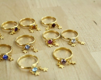 1 Vintage Birthstone Ring / Midi Ring / Knuckle Ring / Size 5