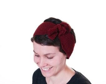 SALE. Turban Knot Headband.  Ear Warmer. Head Warmer. Vintage. Retro. Knit Headband.