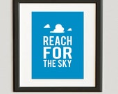 DIGITAL FILE // Reach for The Sky- Woody- Toy Story Print- Winter color