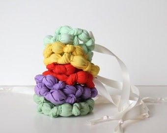 knotted statement necklace / beaded teething nursing necklace -- the macaron collection (pick your color)