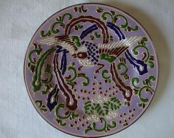 ANTIQUE NIPPON ART Plate Dai Nippon Matsukawa Made in Japan