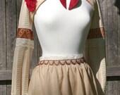 OOAK Cropped Bolero Jacket and Apron Costume Set- Halloween Masquerade Fantasy Steampunk