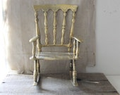 v i n t a g e brass rocking chair, photo prop, doll chair, plant stand - Harmonicajane