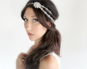 Snowflake wedding tiara, Bridal headband, headband, wedding accessory - JUNE - by DeLoop