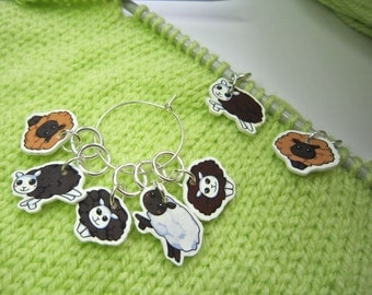 Sheep Stitch Marker set of 5, lightweight, knitting