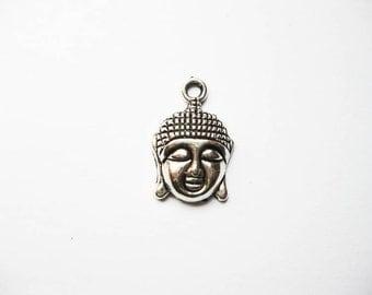 5 Buddha Charms in Silver Tone - C468