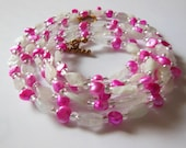 Pink passion handmade romantic  Necklace 619