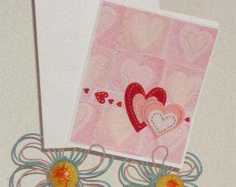 Double Heart Card- Heart Card- Love Card - Anniversary Card- Blank Love Card- Valentines Day Card - Love - Hearts