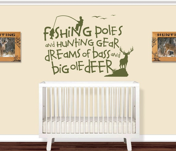 Fishing Poles And Hunting Gear Kids Room Decal Wall Decals