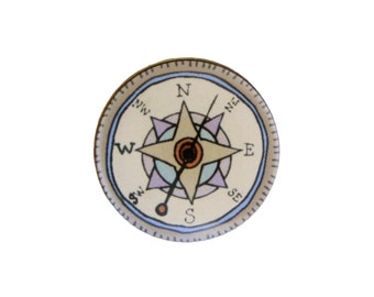 Find Your Way - Compass Pin or Compass Magnet - Graduation Gift