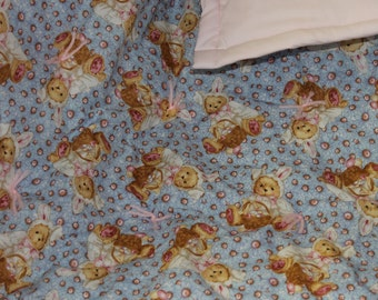 Big sale! Cute Baby Bunny Baby Quilt. Sale!!! was 40.00 Dollars now 20.00 dollars