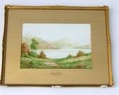 Charles A Bool Fine Art Victorian Watercolor Derwent Water Lake District Vintage Art Vintage Landscape Painting Vintage Watercolor Painting
