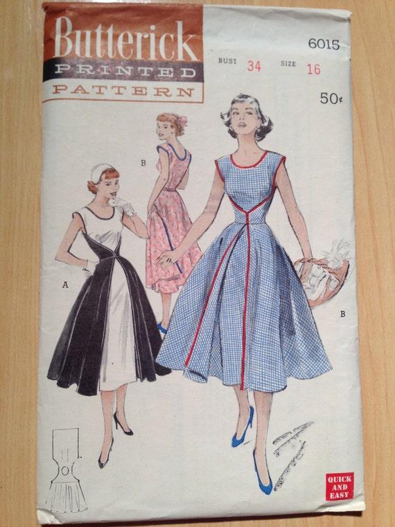 Butterick 50s Sewing Pattern 6015 Walk Away Wrap Dress Size 16