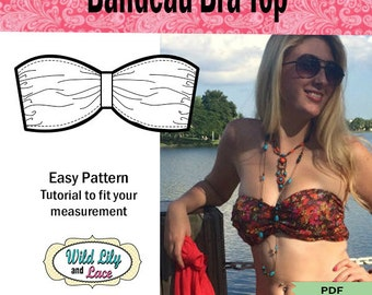 EASY PATTERN TUTORIAL  for bandeau bra