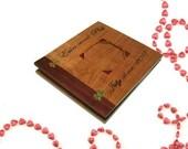 """Personalized Wood Scrapbook Album -Photo Album -12"""" x 12"""" Inlaid, Recessed Photo Placement"""