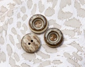 "23 Vintage 11/16"" Plastic 2 Hole Buttons. Natural Browns, Beige, Cream and Tan Tones. Depressed Center. Sewing. Shirt Buttons. Item 1698P"