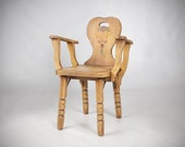 Coronado Peasant Hall Chair. Monterey. Spanish Revival. Missions Arts and Crafts Period