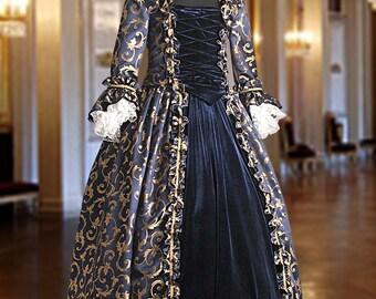 Baroque Renaissance Dress No. 3 Blue