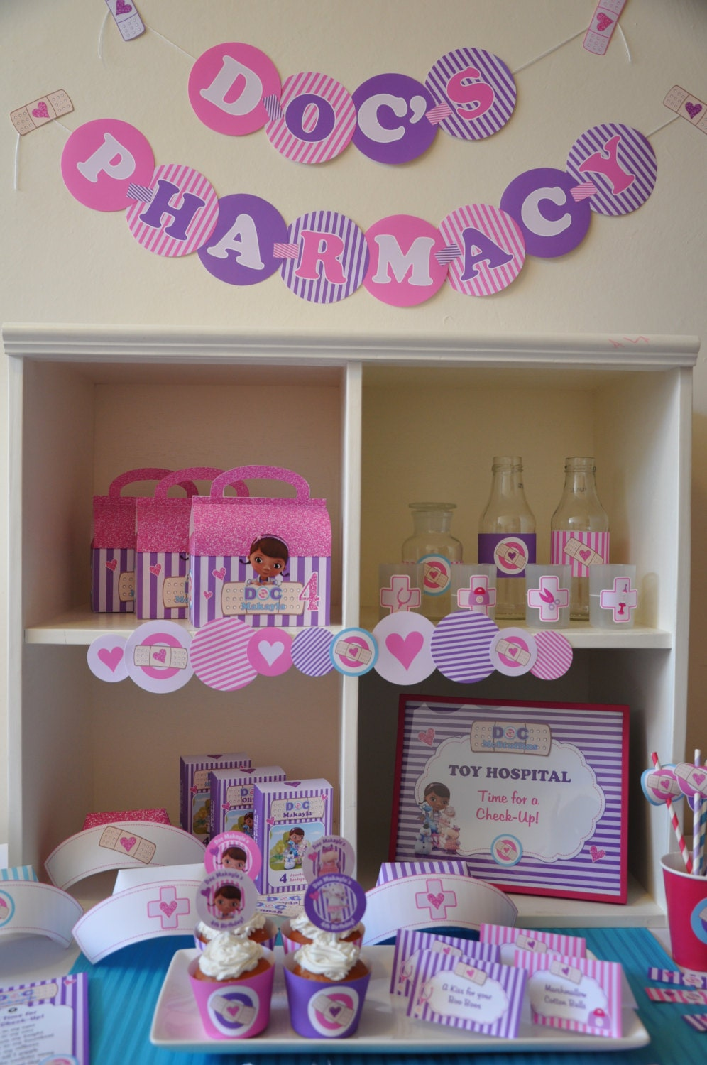 Doc McStuffins Party Decorations Package PERSONALIZED Doctor