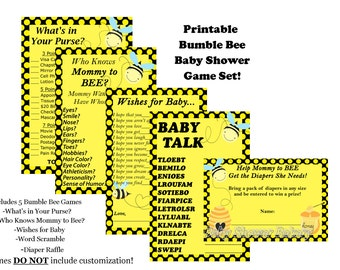 Bee Baby Shower Game, Mommy To Bee Baby Shower Game, Bumble Bee Baby Shower