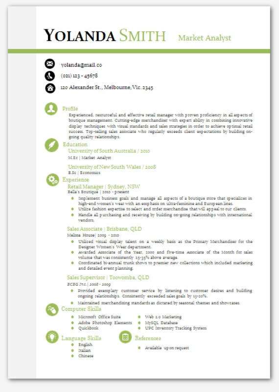 modern microsoft word resume template resume by inkpower