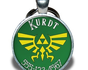 Pet ID Tag - Zelda Triforce *Inspired*