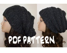 Unique knit beanie pattern related items Etsy