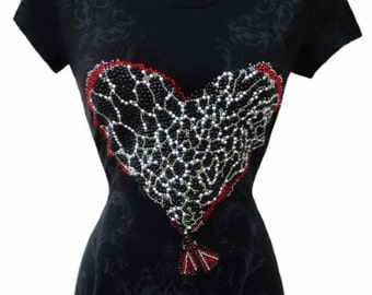 Plus Heart Tee,Women's Plus Tee Shirt,Black Heart Tee,Black Heart Shirt,Plus Heart T-Shirt,Plus Black Heart Tee,Plus Black Tee,Plus Tee