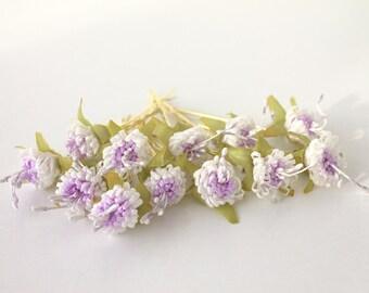 flower hair clips, wedding accessories, bridal flowers, Set of 12