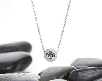 Tree Necklace, Tree of Life, Family Tree Jewelry, Tree Pendant, Tree, Birthday Gift, Tree of Life Jewelry, Sterling Silver, n246sSS