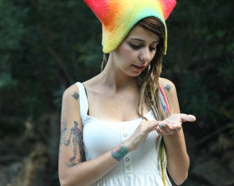 Unique handmade felt hats - New Star